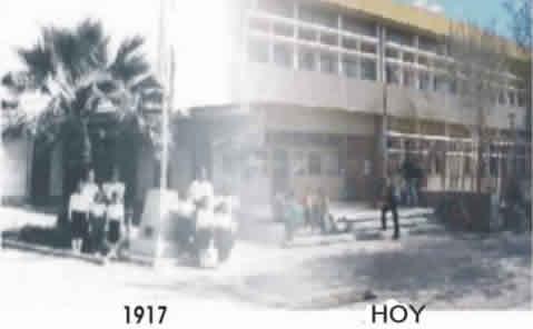 Foto de la entrada a la escuela 9-006 (Rivadavia-Mendoza)